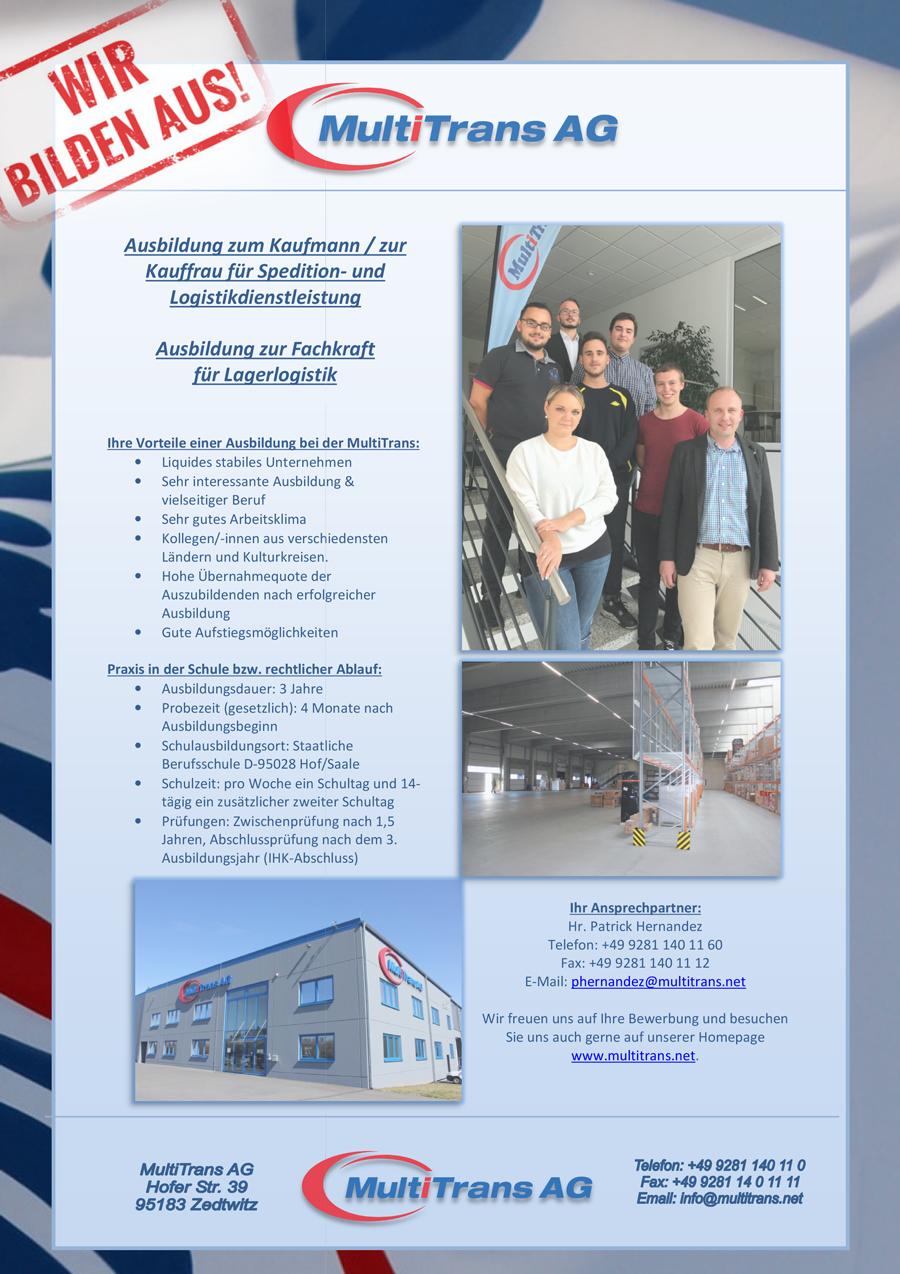 Ausbildung bei der MultiTrans AG