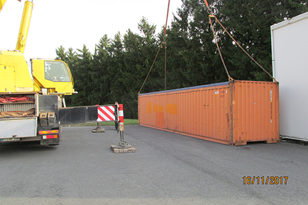 Containerverladung""